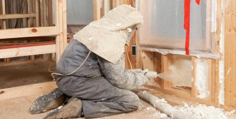 spray foam application Hill Country Insulation