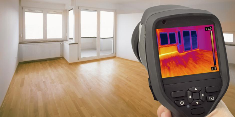 infrared camera shot in room Hill Country Insulation