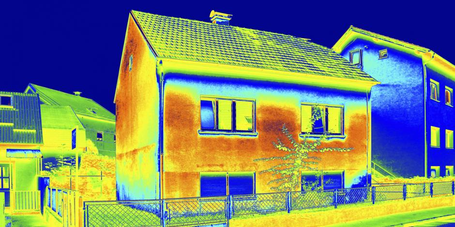 infrared camera view of house